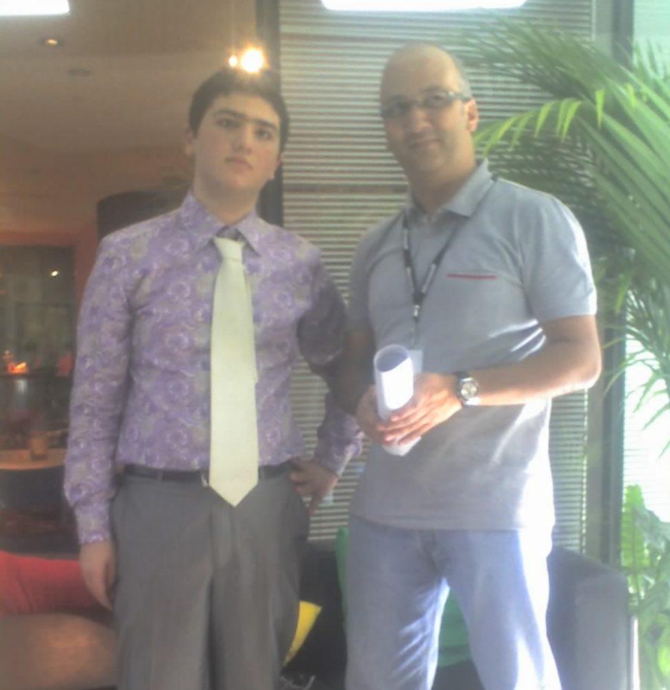 Microsoft Dubai Office Patrick Beeharry and me